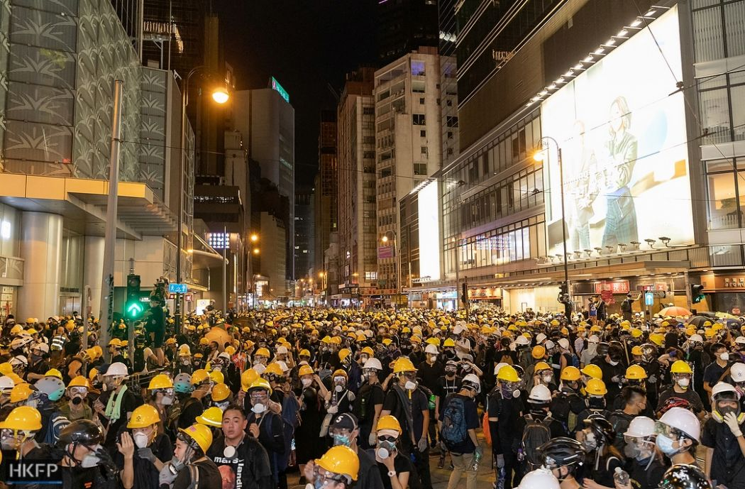 july 28 sheung wan china extradition tear gas