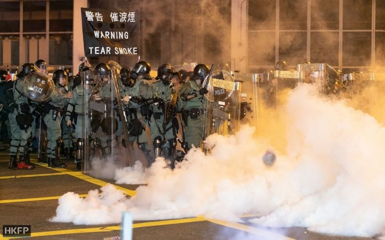 july 28 sheung wan china extradition tear gas police