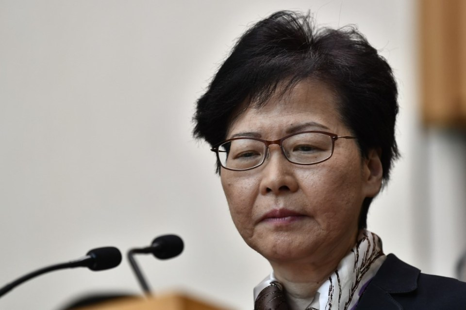 carrie lam popularity