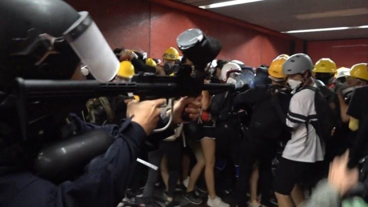 police shoot protesters Tai Koo