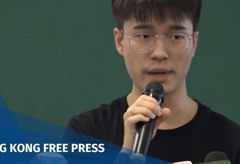Davin Wong, acting president of the Hong Kong University Students' Union.