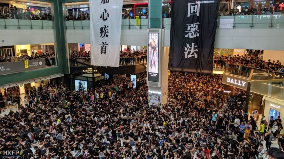 august 5 china extradition Sha Tin's New Town Plaza