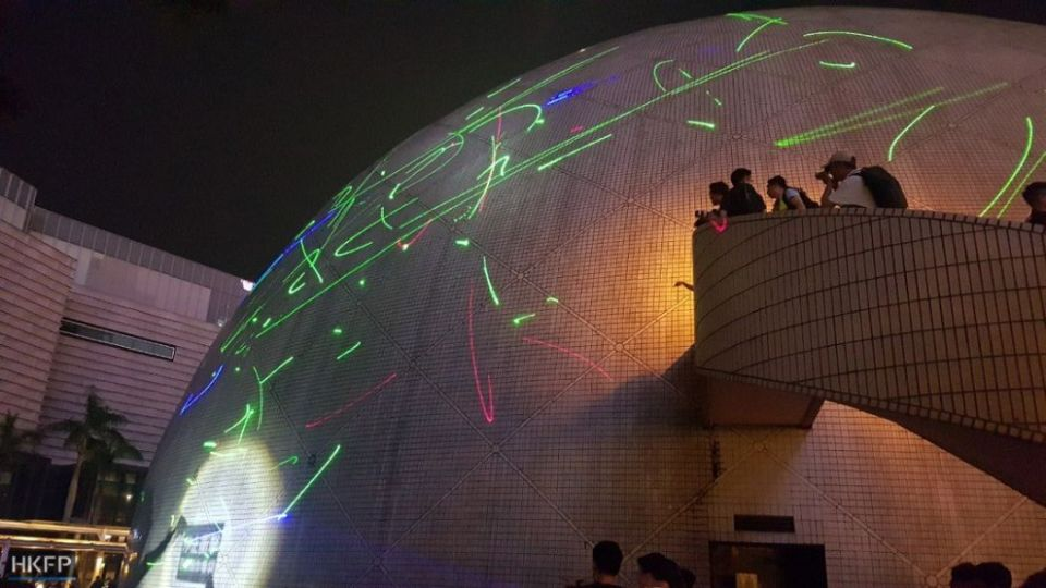 laser protest august 7 china extradition tsim sha tsui