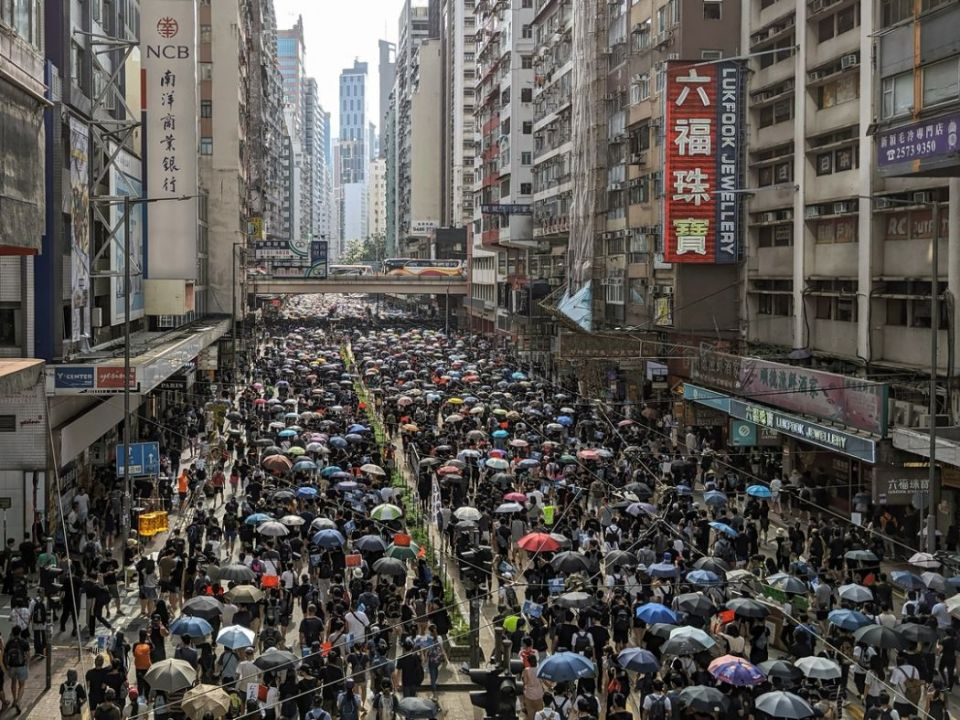 september 15 China extradition protest march causeway bay