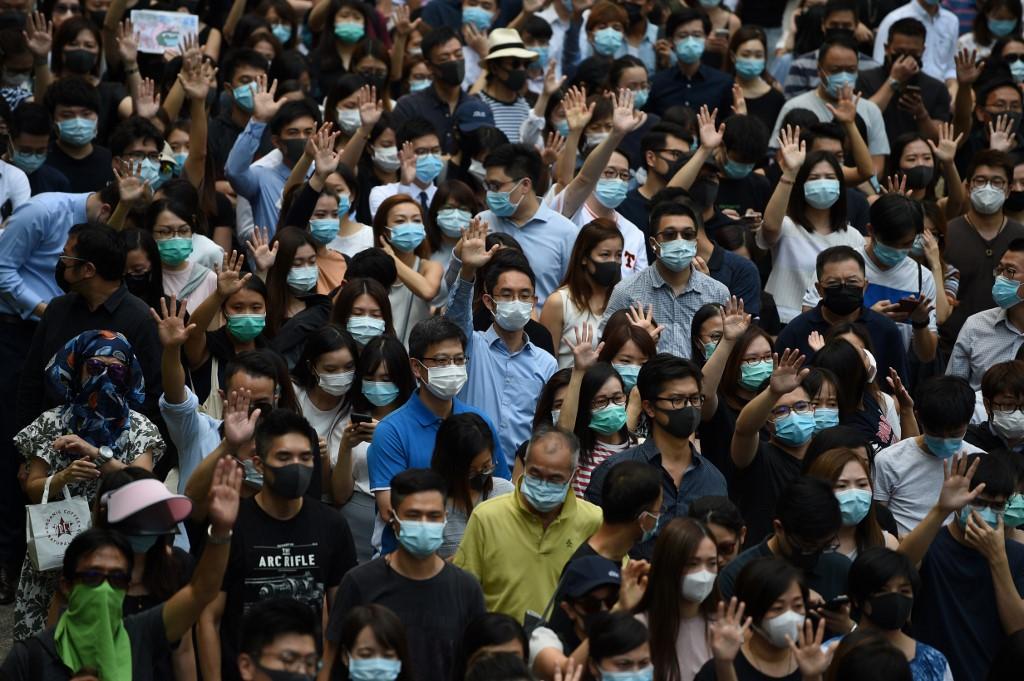 October 4 face mask ban protest central   Hong Kong Free Press HKFP