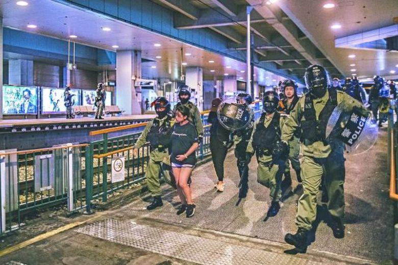 Siu Hong MTR station Tuen Mun arrest