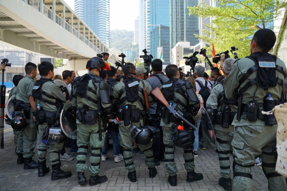 Riot police Legislative Council Policy Address