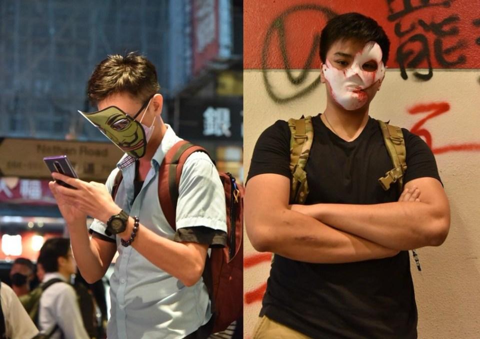 October 18 anti-mask human chain causeway bay