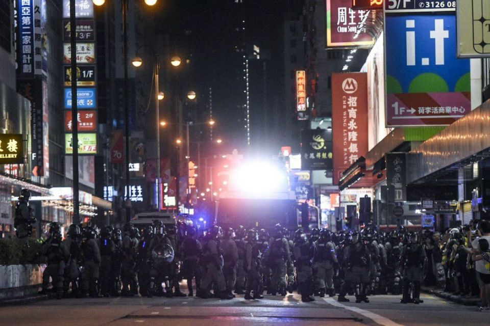 october 5 protest police