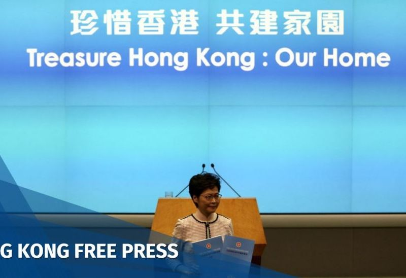 Carrie Lam policy address 2019