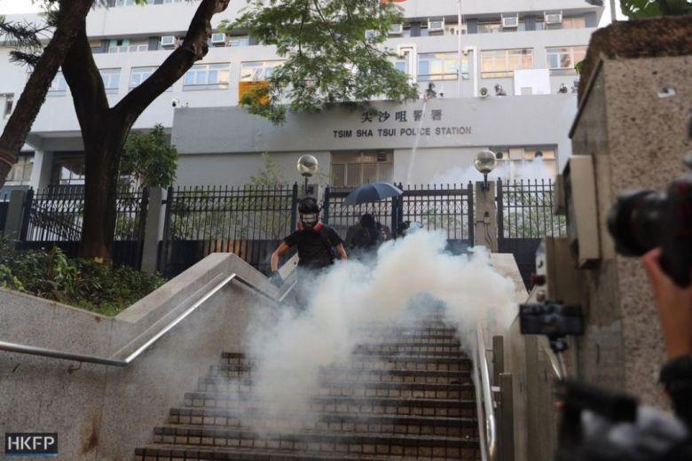 tear gas tsim sha tsui police october 20 kowloon