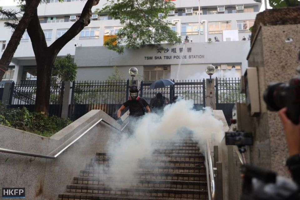 tear gas tsim sha tsui police october 20 kowloon