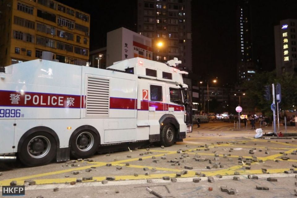 october 20 kowloon water cannon