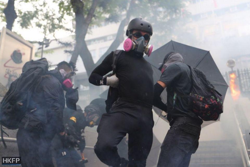 tear gas mask october 20 kowloon