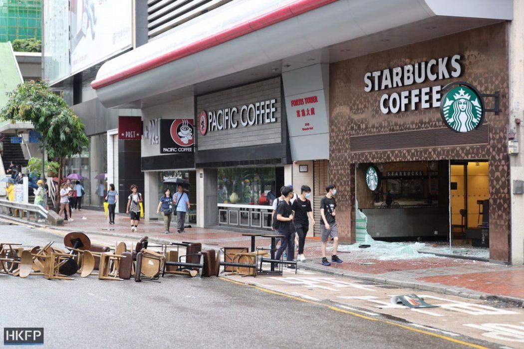 starbucks october 6 protest hong kong island (17)