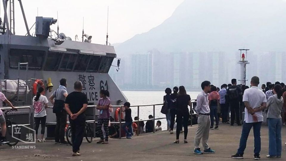 Mainland Chinese CUHK board police vessel