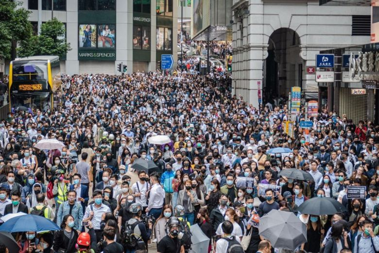 November 12 Central Hong Kong protest office workers