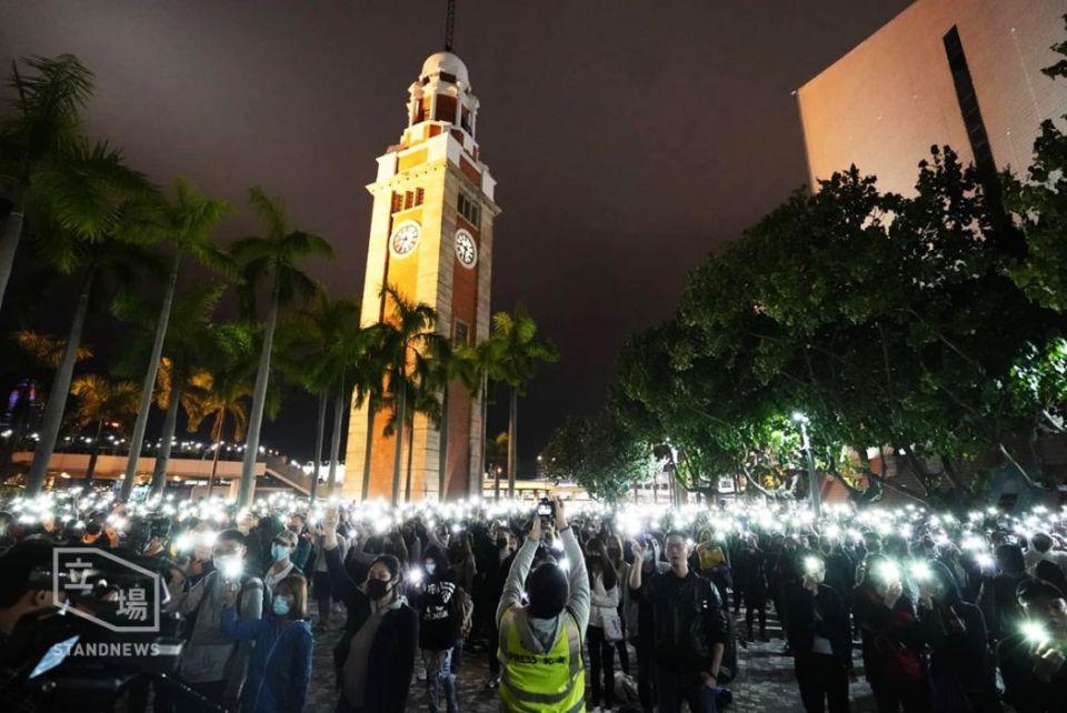Tsim sha tsui november 28 rally polyu support siege