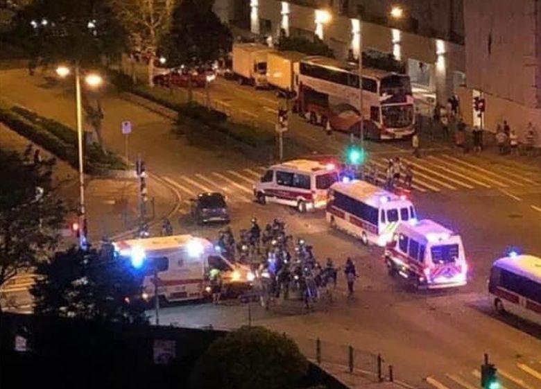 ambulance police vans Tseung Kwan O