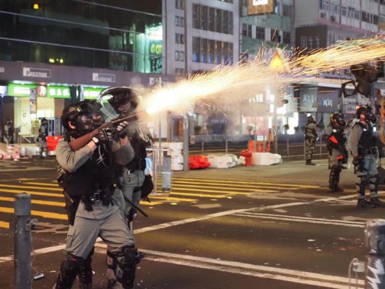 tear gas Mong Kok november 12