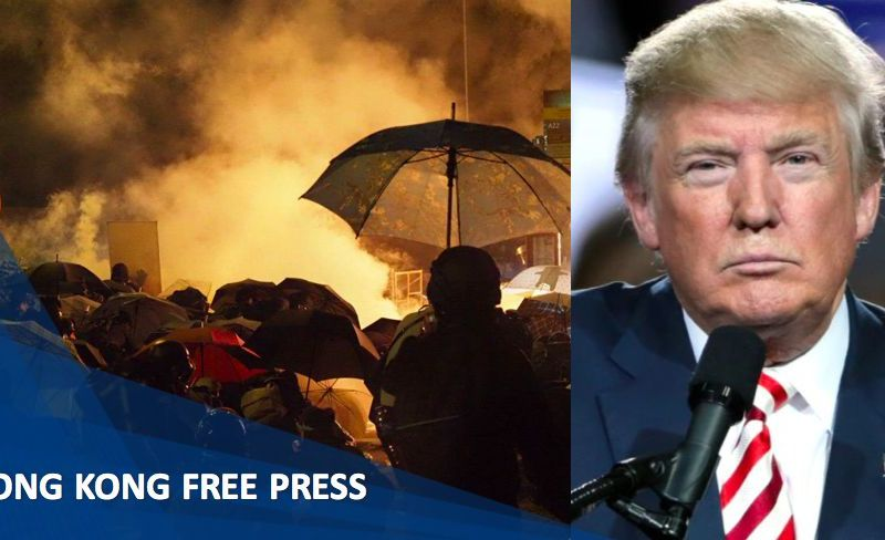 Donald Trump Hong Kong protests PLA Xi Jinping Chinese President