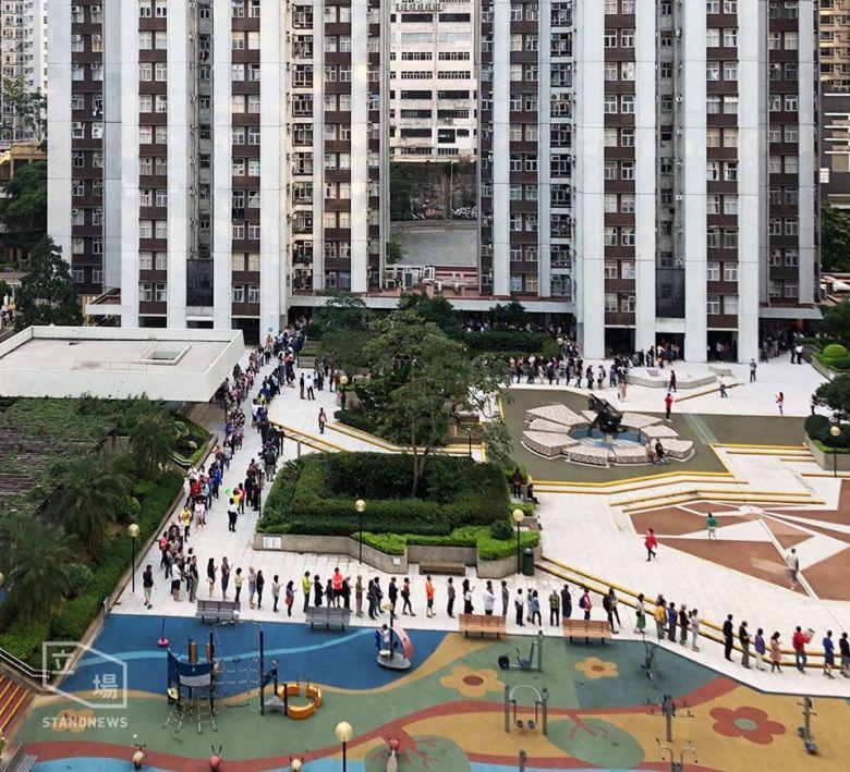 Tai Koo district council queues