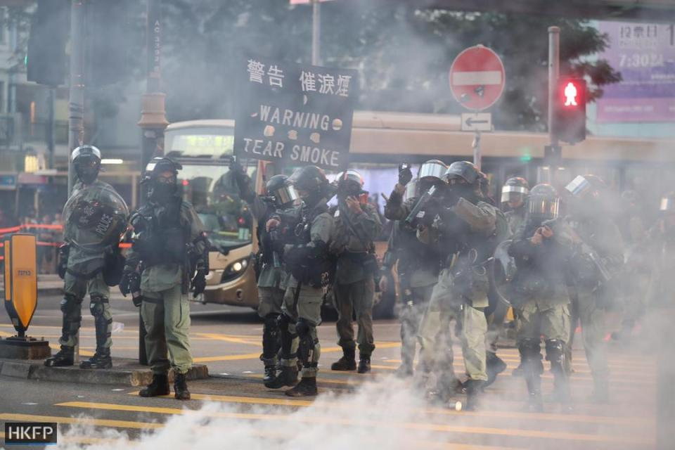 """November 10"" Tsuen Wan shopping tear gas protest"