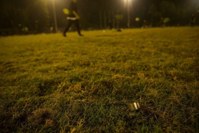 """November 13"" Chinese University of Hong Kong tear gas canister football pitch"