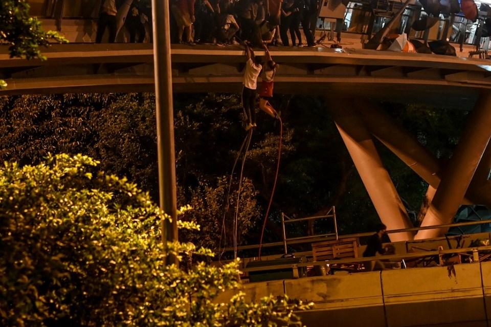 PolyU rope escape Hong Kong protester
