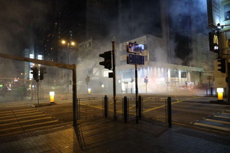 Mong Kok tear gas december 24