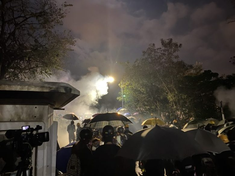 protesters clash police Chinese University of Hong Kong CUHK