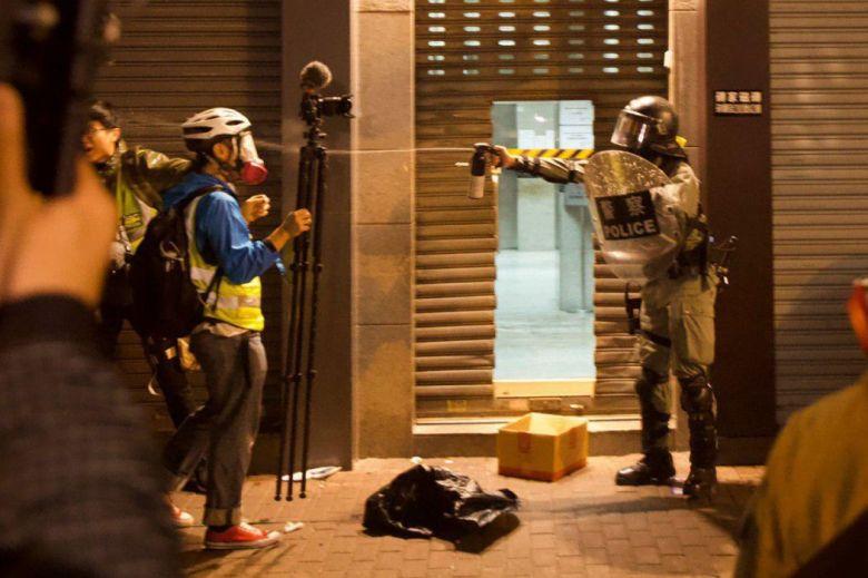 press freedom journalist media december 25 pepper spray
