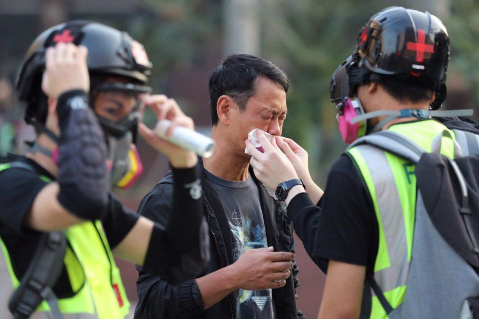 "Hung Hom Tsim Sha Tsui protest China extradition pro-democracy ""December 1"" tear gas Salisbury Garden"