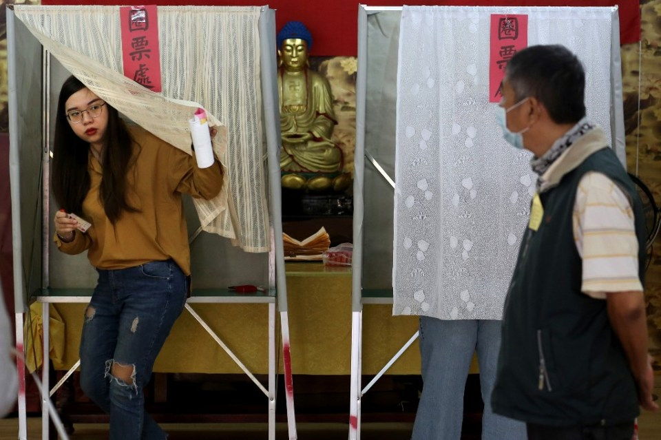 Taiwan 2020 president legislative election voters ballot