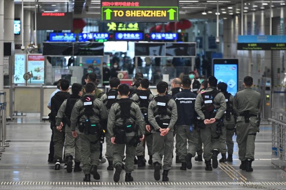 Shenzhen police hong kong
