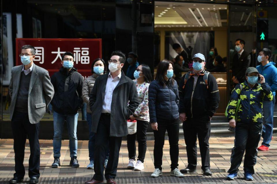 Tsim Sha Tsui masks public coronavirus virus Covid-19