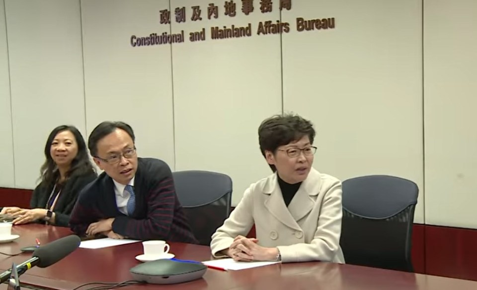 Patrick Nip and Carrie Lam