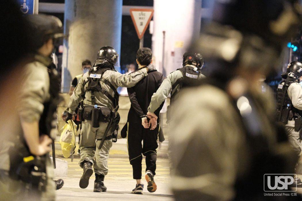 arrest tear gas yuen long march 21