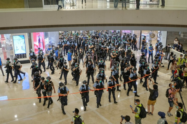 """April 28 2020"" IFC mall police cordon"