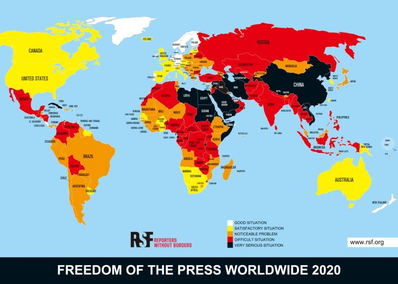 2020 world press freedom index reporters without borders