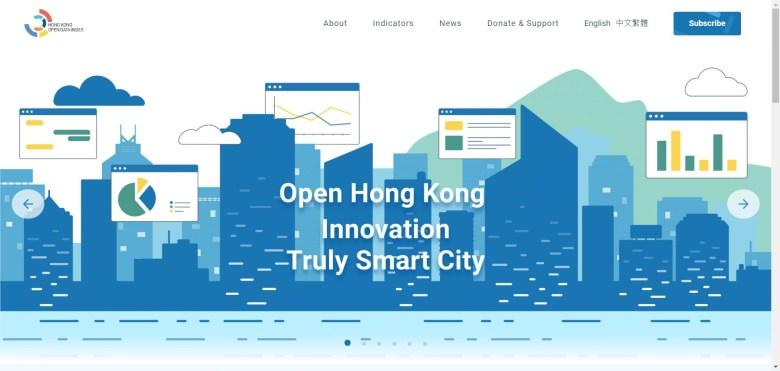 hong kong open data index