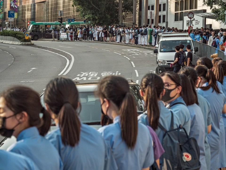 étudiant extradition de la chaîne humaine protestation