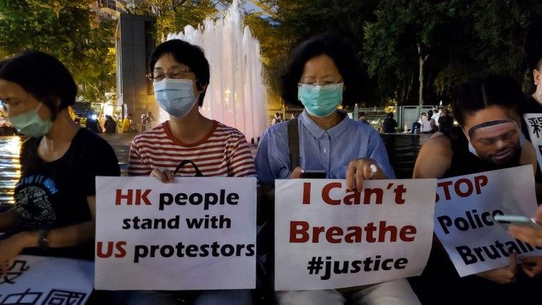 george floyd hong kong protest solidarity