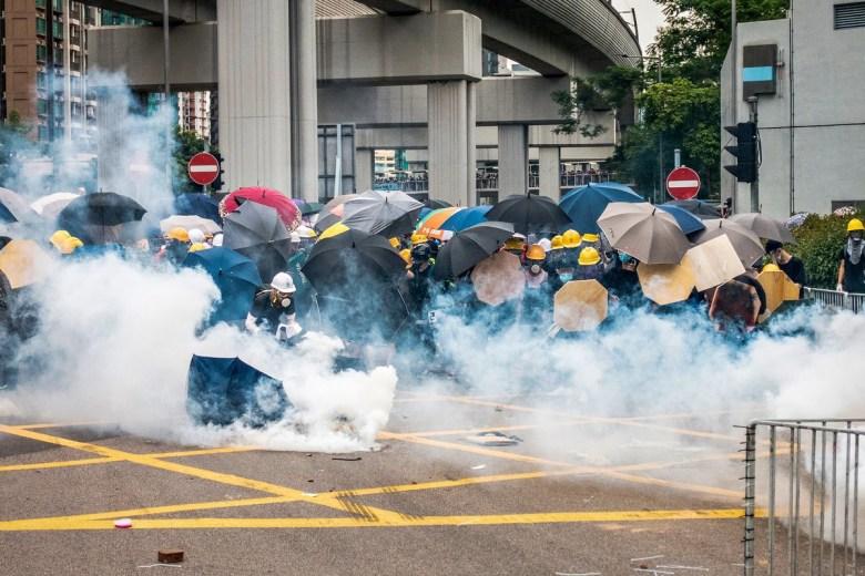 July 27, 2019 Yuen Long protest tear gas