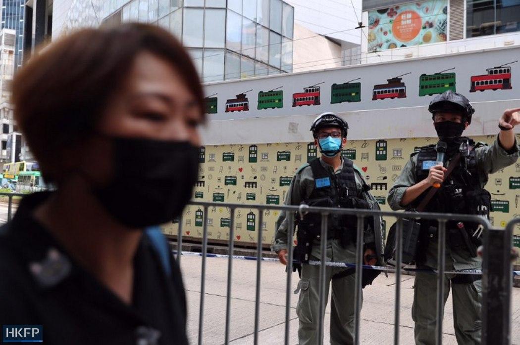 police masked passerby causeway bay 1 July 2020