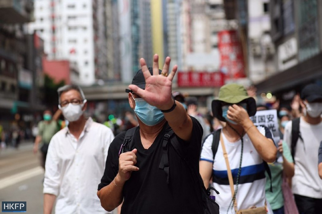 five demands not one less protesters causeway bay 1 July 2020