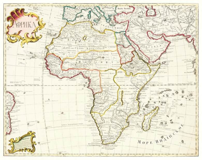 map of Africa 1722