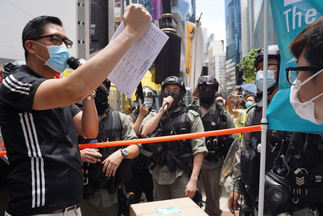 democratic party booth protest march five demands 1 July 2020 causeway bay
