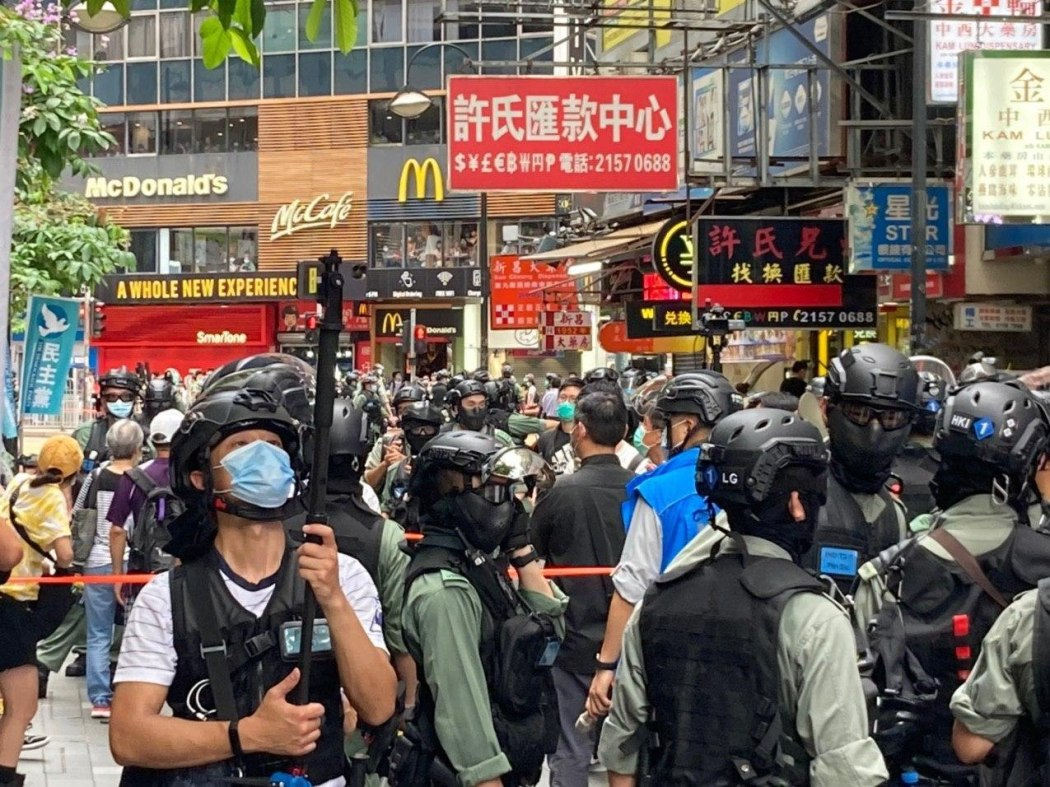 police protester causeway bay 1 July 2020