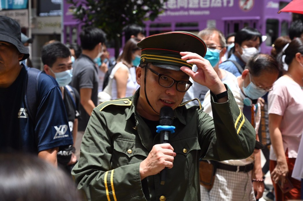 Tam Tak-chi July 1 2020 Causeway Bay